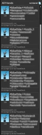 Le Follow Friday de masse : a bannir