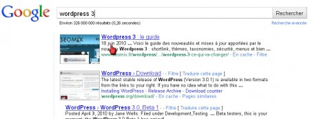 Google ajoute la date aux Snippet WordPress