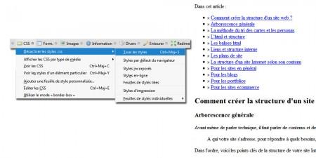 Structure d'un site Internet sans CSS