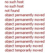 Exemple d'erreurs sur Xenu