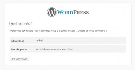 installation CMS wordpress