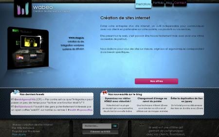 Wabeo site vitrine sur le CMS WordPress