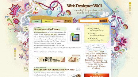 Websedignerwall blog sur le CMS WordPress