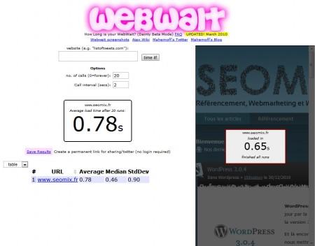 Mesurer le temps de réponse avec Webwait