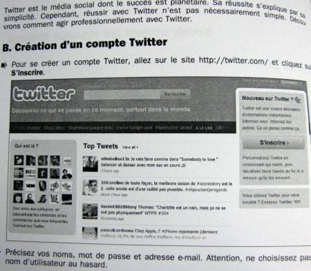 La création d'un compte Twitter