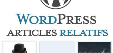 Les articles relatifs sur WordPress