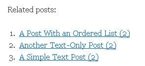 Affichage par défaut des articles relatifs, avec YARPP