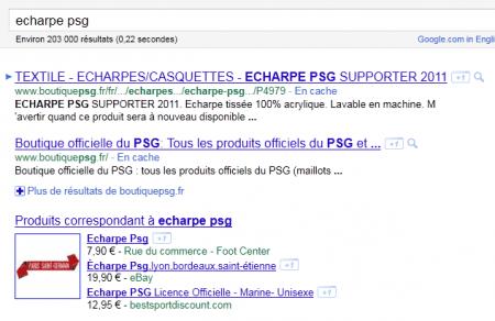 La market place Google Products