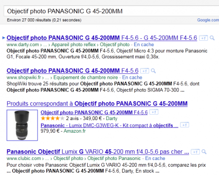 Les rich snippets de Google Products