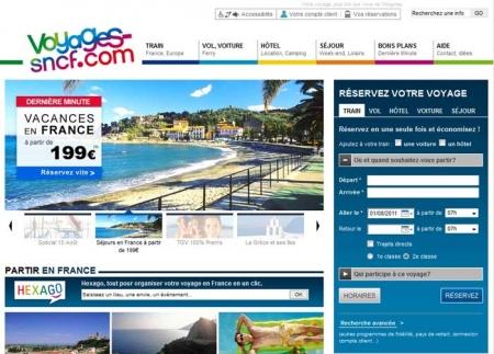 Site Internet Voyage SNCF