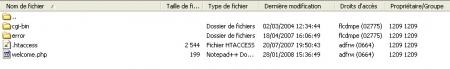 Arborescence FTP par défaut d'Infomaniak