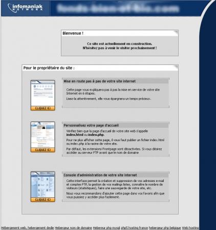 Page par défaut Infomaniak
