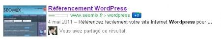 L'affichage du fil d'Ariane dans Google