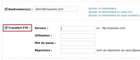 MyPoseo et l'export automatique par FTP