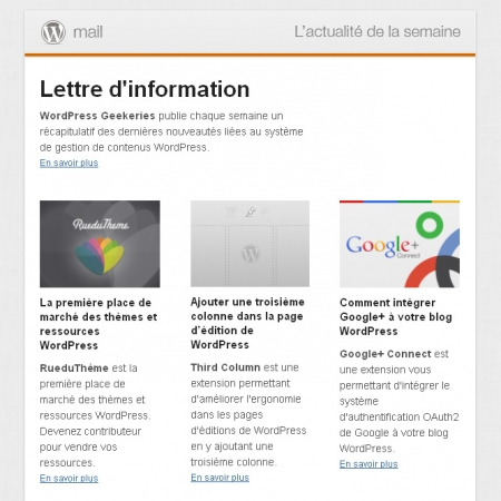 Newsletter WordPress