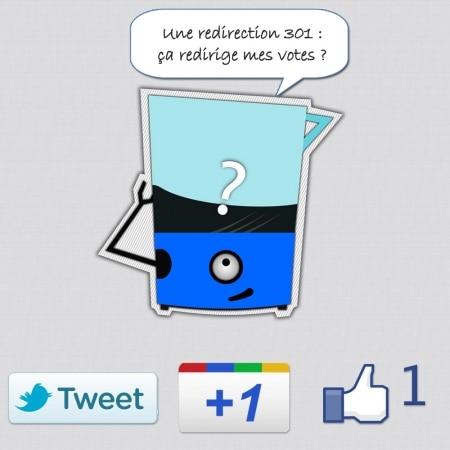 Les redirections 301 redirigent t-elles les votes sociaux?