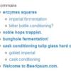 Un exemple de sommaire mis en page sur WordPress