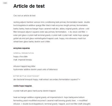 Page sans sommaire sur WordPress