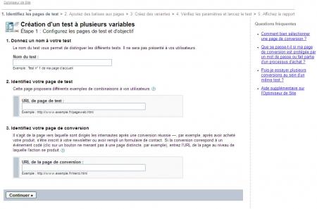 Paramétrez votre test multi-variables