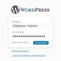 Déplacer l'administration de WordPress