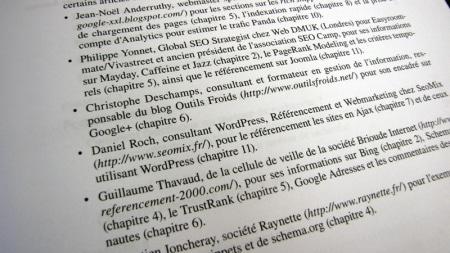 Auteurs du livre Réussir son référencement 2012