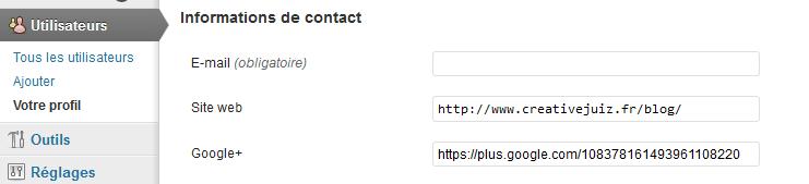 Profil customisé d'un auteur WordPress