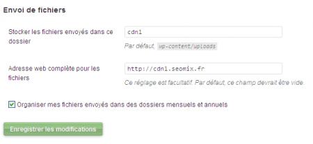 Paramétrer WordPress pour utiliser un CDN