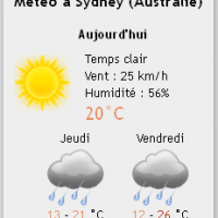 Le plugin Météo de WordPress Weather Layer en vertical
