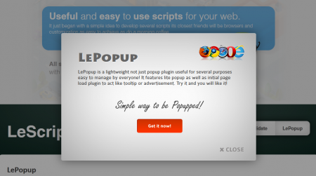 Plugin WordPress lepopup