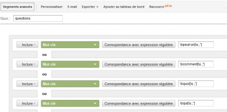 segment analytics : question des internautes