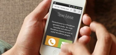 Wp Mobile Splah Page Appel et Email