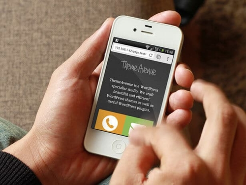 Site web en responsive design sur un mobile