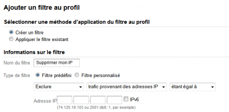 Supprimer son IP dans Google Analytics