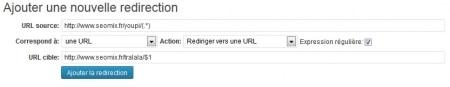 Redirection WordPress avec expression régulière