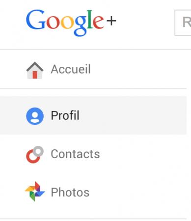 Accès au profil Google+