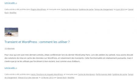 Page de mot clé par défaut dans WordPress