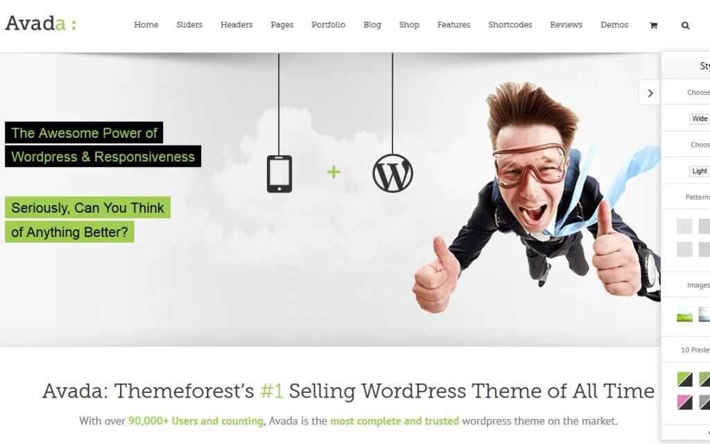 Avada : un exemple de thème WordPress