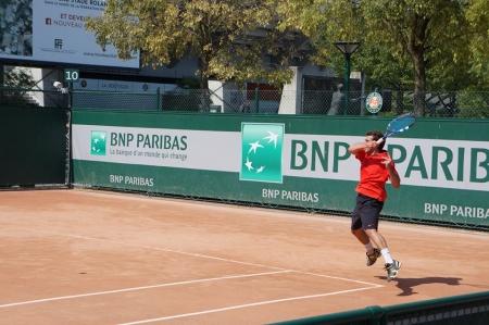 Axel Janvier au Tennis