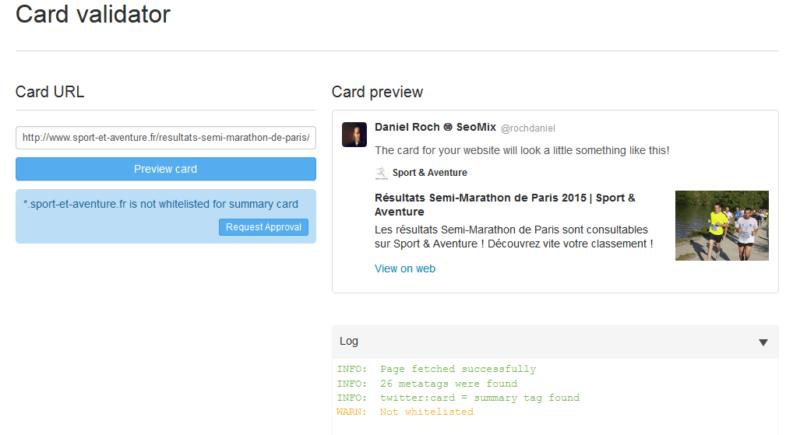 Twitter Card Summary par défaut