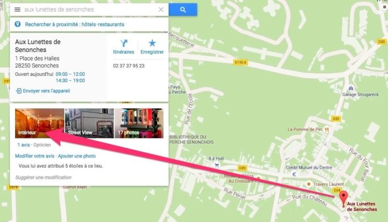 Et la visite virtuelle s'affiche dans Google Maps aussi