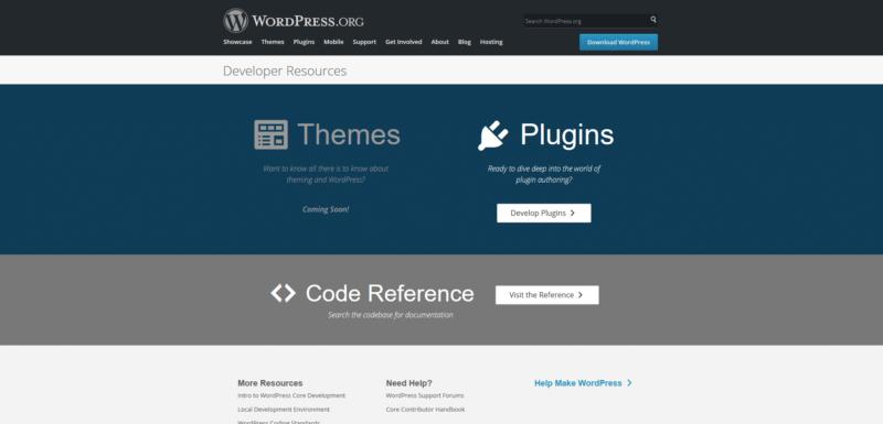 Ressources pour le développeur WordPress