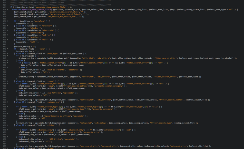 Un mauvais exemple de code d'un thème WordPress