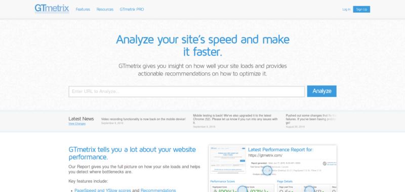 Analyse de performance de site internet