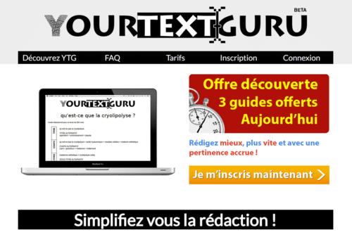 YourTextGuru, un outil pour rédiger facilement des contenus