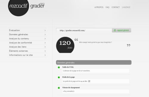 capture d'écran du premier site positionné sur audit en ligne seo