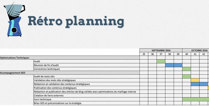 Rétro planning