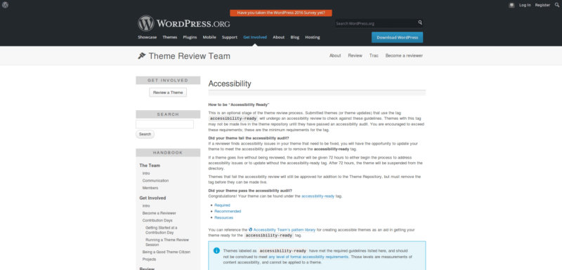 WordPress Theme Handbook
