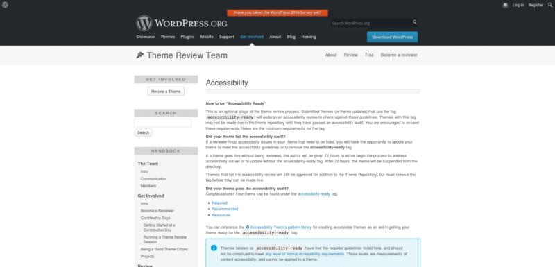 WordPress Theme Handbook