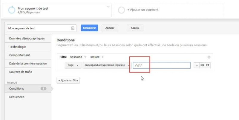Capture d'écran Isoler les articles avec un ID dans l'URL