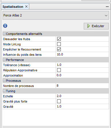 parametrage force atlas 2